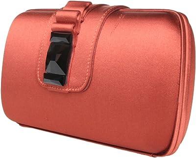 Fratelli Rossetti SATIN Abendtasche Unterarmtasche Clutch,19x12x4 cm, rost