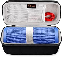 Canboc Shockproof Bluetooth Speaker Carrying Case for JBL Flip 3 & 4, USB Cable & Power Charger | Durable & Impact Resistant EVA Exterior, Ergonomic Carrying Wrist Strap | for Storage, Travel, More