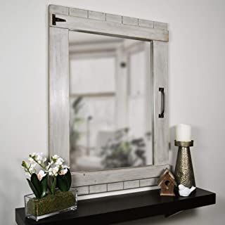 FirsTime & Co. Weathered Barn Accent Wall Mirror, 32