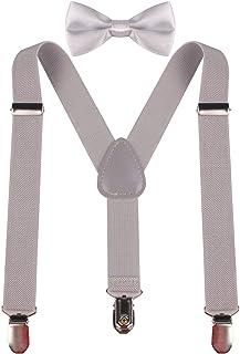 PZLE Boys' Adjustable Suspender and Bow Tie Set