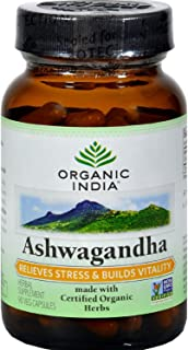 Organic India Ashwagandha 60 Cap Per Bottle