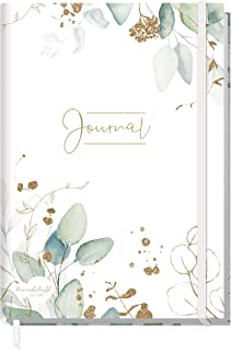 Trendstuff by Häfft Bullet Journal gestippelde A5 met elastiek [bladgoud] 156 pagina's   notitieboek gestippeld, dagboek v...