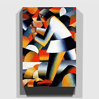 """Arty Pie""""Kazimir Malevich The Woodcutter"""" Canvas Print, Multi-Colour, 30 x 20-Inch"""
