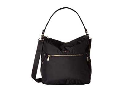 Hedgren Prisma Oblique Hobo (Black) Hobo Handbags