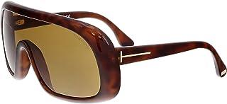 Tom Ford Men's Sven TD-FT0471 56E Rectangular Sunglasses, Brown, 0 mm