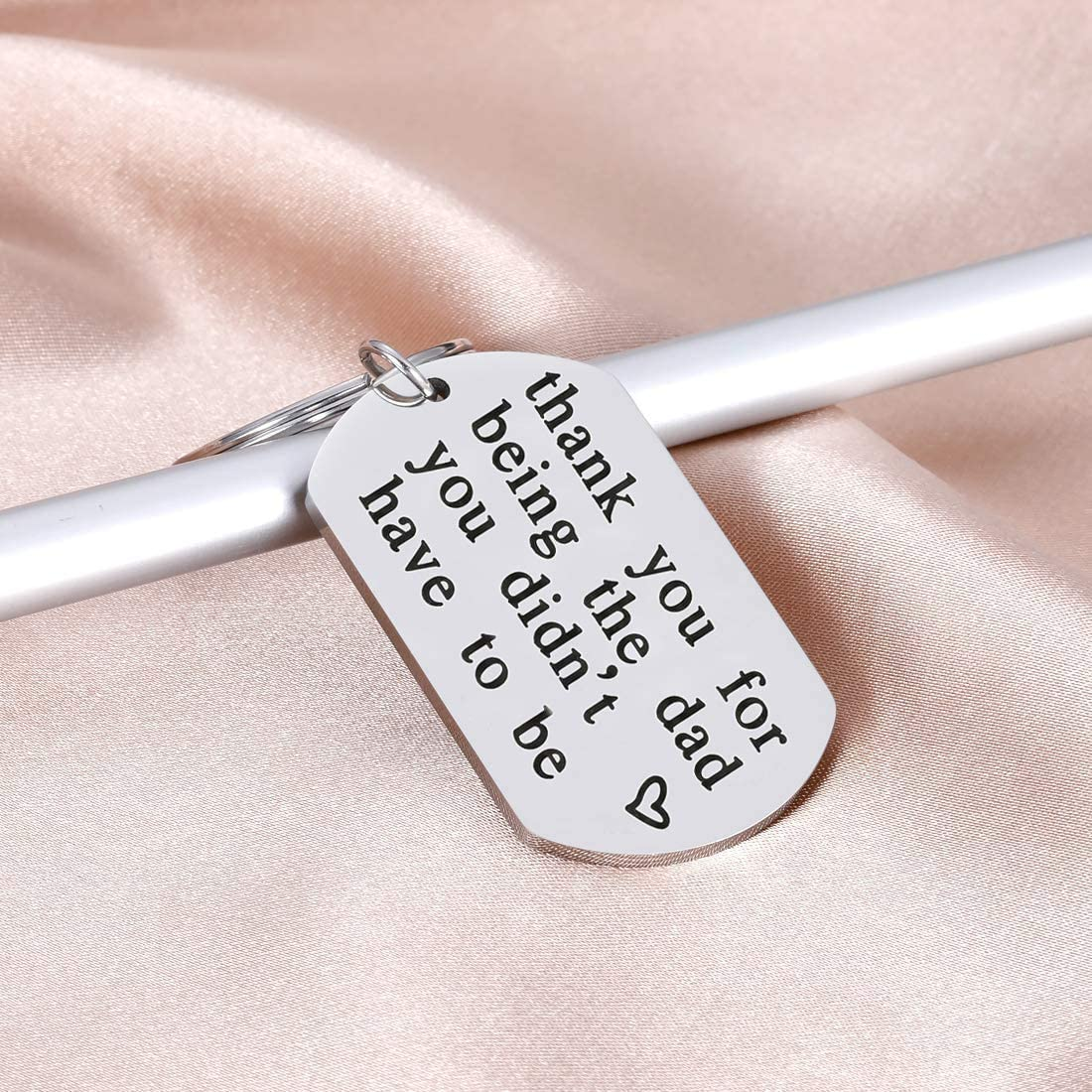 Step Dad Father's Day Gifts Keychain,Dad Gifts from Daughter Son