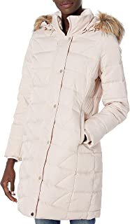 Marc New York by Andrew Marc Womens MW9AD476 Medina Long Sleeve Down Coat - White - Small