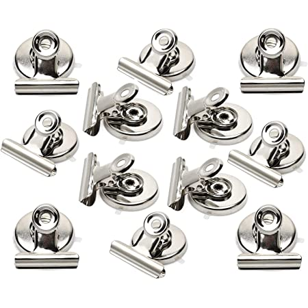 Refrigerator Whiteboard Wall Fridge Magnetic Memo Note Clips high Strength Clamping Force Multi-Functional Magnetic Clips 8 Pieces Magnetic Metal Clips