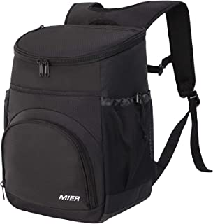MIER Leakproof Backpack Cooler Insulated Lunch Backpack with iPad, Tablet Pocket for Men and Women to Work, Picnic, Hiking, Camping, Beach, Day Trips, 24Can
