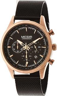ساعة يد من ميجر للرجال MS2153GRE-BK-1N0A