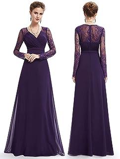 Ever-Pretty Women s Elegant V-Neck Long Sleeve Evening Party Dress 08692 e0e6533dfd18