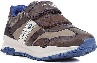 GEOX Boys' CORIDAN 8 Sneaker Dual Riptape Strap, BRWN, Brown Beige, 34 M EU Little Kid (3 US)
