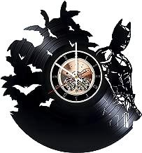 Batman DC Comics Vinyl Record Wall Clock - Home or Bedroom wall decor - Gift ideas for friends, teens - Unique Art Design