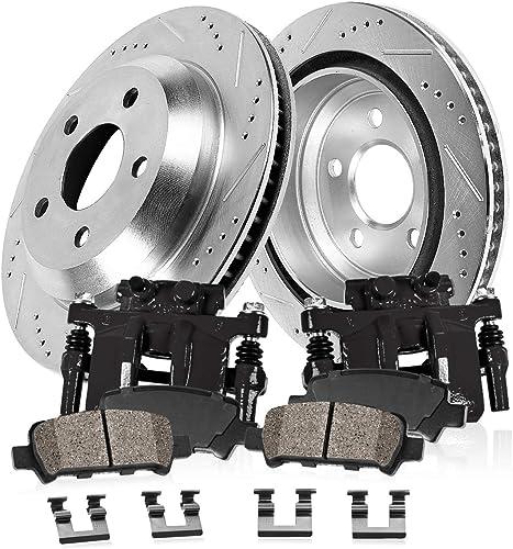 2002 2003 Ford Econoline E350 w//SRW OE Replacement Rotors w//Ceramic Pads F
