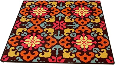 Comfortable Doormat Carpet, Pastoral Style, Painted, Living Room, Bedroom, Coffee Table, Floor mat, Square, Non-Slip, Floor m