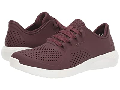 Crocs LiteRide Pacer (Burgundy/White) Women