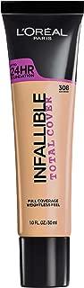 L'Oréal Paris Infallible Total Cover Foundation, Sun Beige, 1 fl. oz.
