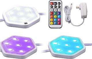 BLACK+DECKER LEDUC-PUCK-3RGB Cambiador LED Puck Remote, Regulable, Stick On o Tornillos de Instalación, 3-Pack, 16 Colores y 4 Modos de Luz