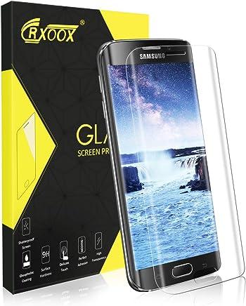 Protector de Pantalla para Samsung Galaxy S6 Edge, [3D Borde Redondo] Cristal Vidrio Templado Transparente, [3D Borde Redondo] [9H Dureza] Fácil Instalación y Sin Burbuja