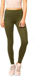 Easy Young Fashion Damen Basic Leggings Lang Uni One Size