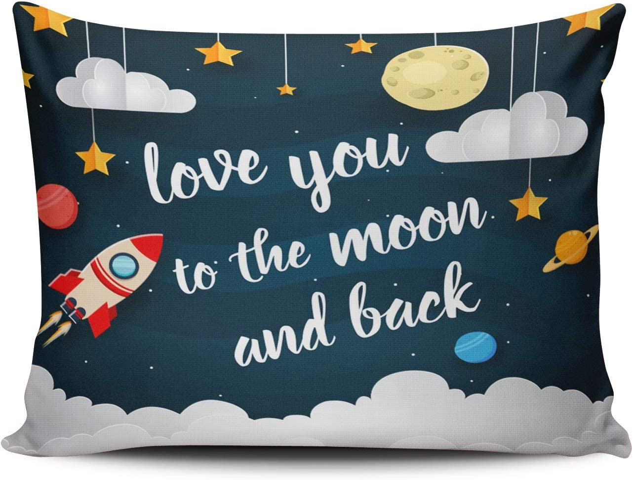 WEINIYA Bedroom Custom Decor Import Free shipping on posting reviews Love You The Color Moon Back to and