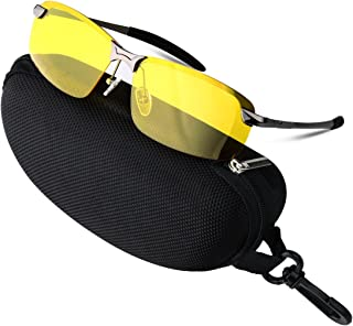 b44f614c78a COOXER Night Driving Glasses Anti-Glare Polarized - HD Vision Sports Style  Yellow Tint Polycarbonate