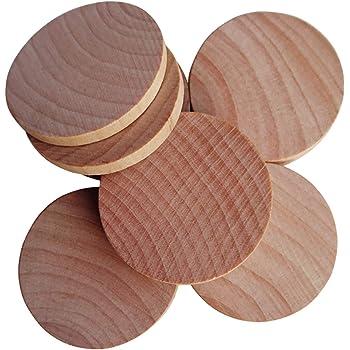 10 Stück Holzrahmen Holzscheiben Hochzeit Unvollendet Holz Scheiben