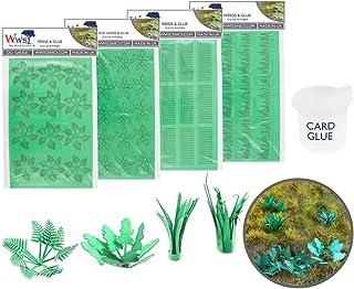 War World Scenics Laser Cut Card Mixed Plants with Glue – OO/HO Gauge Model Railway Diorama Terrain Scenery Landscape Mode...