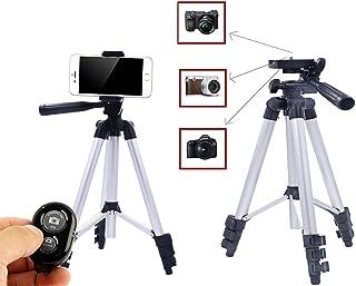 Ibeston 42 Inch Portable Aluminum Smartphone or Camera Tripod with Bluetooth Wireless Remote Control, (Ibeston)