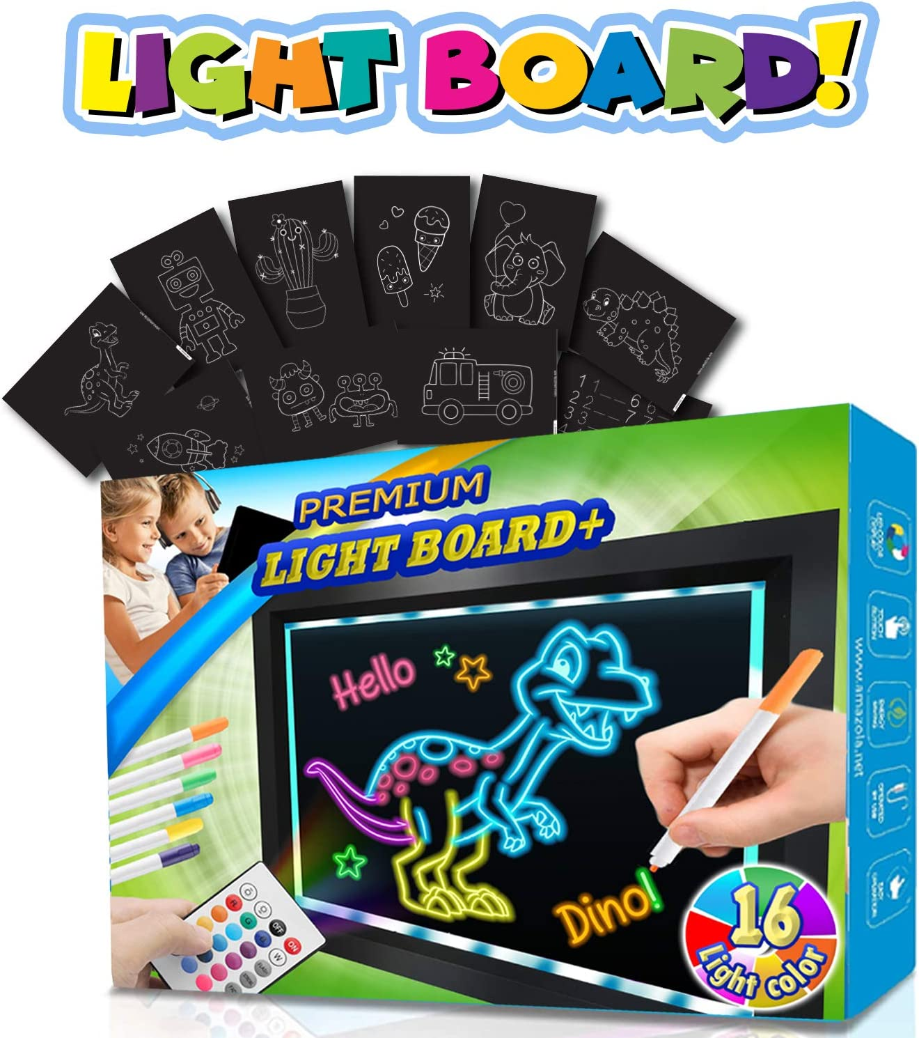 Amazola Writing Light Board Tracing LCD Birt Tablet Time sale Drawing Arlington Mall pad