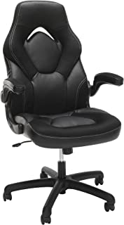 OFM Essentials Collection Racing Style Bonded Leather Gaming Chair, in Black