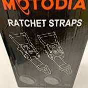 MotoDia - Tensores de carraca con doble gancho en forma de J (juego de 2)
