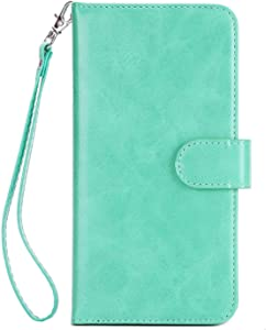 Huawei P20 Lite Case  Bear Village  Premium Leather Stand Wallet Case Card Slots Cover with Magnetic Clasp and Wrist Strap for Huawei P20 Lite   5 Green