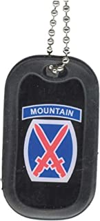 United States Army 10th Mountain Unit Division Rank Logo Symbols - Military Dog Tag Luggage Tag Key Chain Metal Chain Necklace