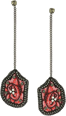 Steve Madden - Casted Floral Post Earrings