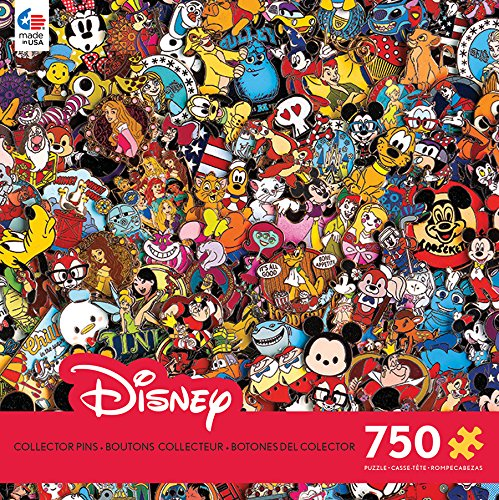 Ceaco 750 Piece Disney Collection - Photo Magic Pins Jigsaw Puzzle, Kids and Adults