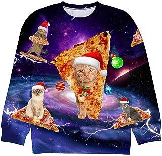 Camlinbo Unisex Ugly Christmas Sweater 3D Santa Printed Pullover Sweatshirts for Women Men Long Sleeve Xmas Holiday Shirts
