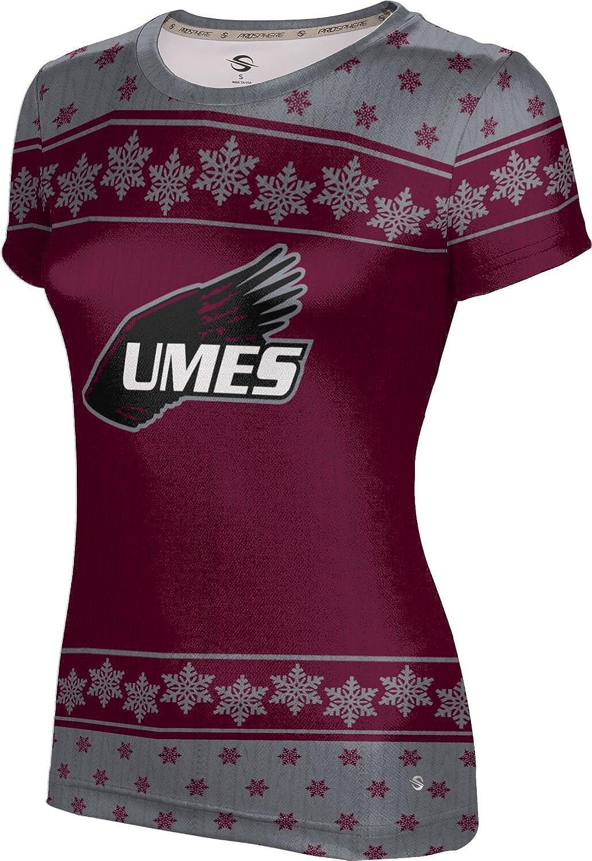University of Maryland Eastern Shore Ugly Holiday Girls' Performance T-Shirt (Snowflake)