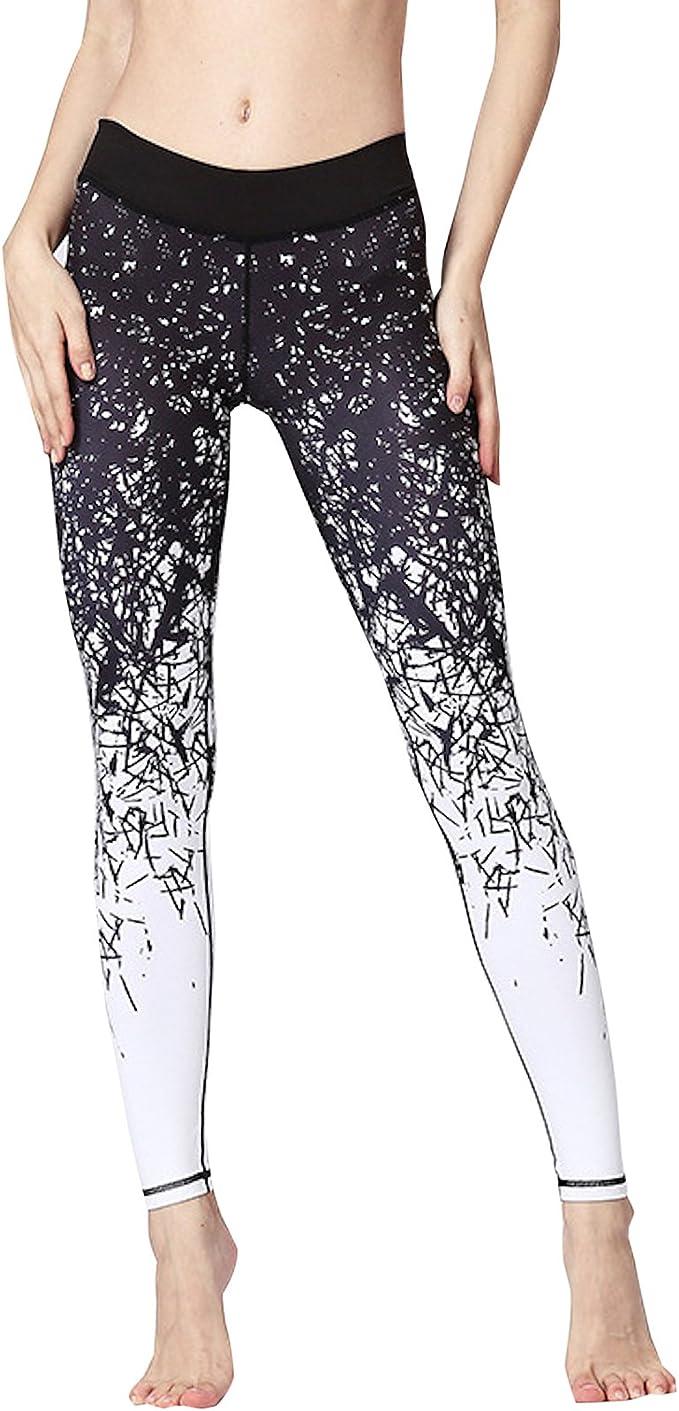 ZODEYI Womens High Waist Yoga Pants Tummy Control Leggings Butt Lifting Textured Workout Tight