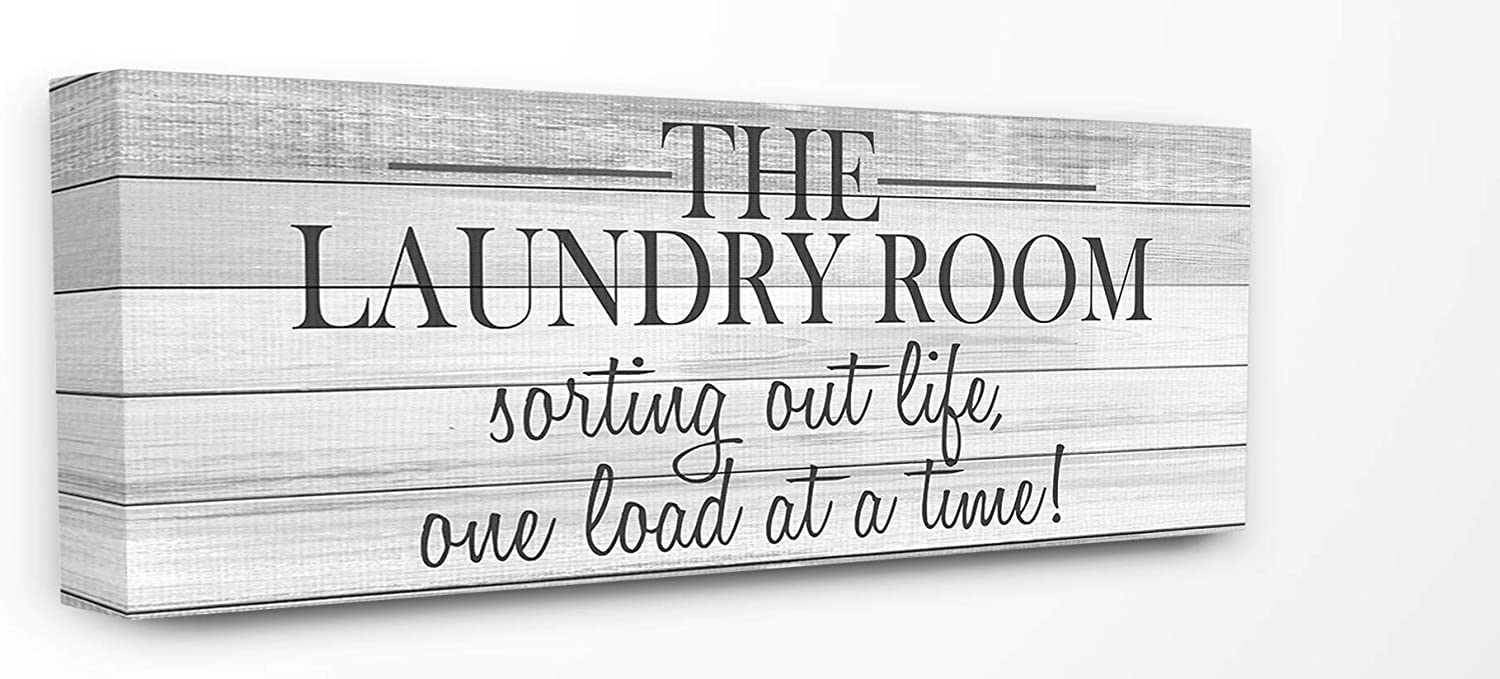 fd18f144ac The Stupell Home Decor Laundry Sorting Out Life Typography Black and ...