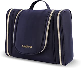 Travel Toiletry Bag with Hanging Hook, IrisCargo, Large Portable Travel Wash Bag for Men & Women, Cosmetic Pouch Case Orga...