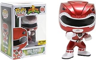 Funko Red Ranger [Metallic] (Hot Topic Exclusive) POP! TV x Power Rangers Vinyl Figure + 1 Free Official Japanese Super Sentai Trading Card Bundle (12551)
