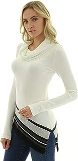 PattyBoutik Women Cowl Neck Asymmetrical Hem Sweater