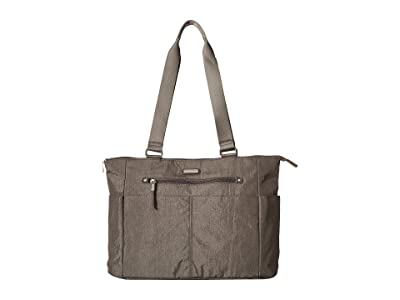 Baggallini Destination Tote with RFID Wristlet (Sterling Shimmer) Handbags