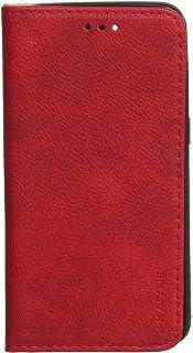 جراب جلد محفظة قابل للطى لريلمى C2 من كايو - احمر