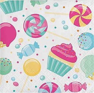 Creative Converting Candy Bouquet Beverage Napkins 16-Pieces, Multicolour