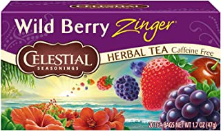 Celestial Seasonings Herbal Tea, Wild Berry Zinger, 20 Count (Pack of 6)
