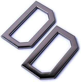Bobeey 4pcs 1 1/2'' Flat D-Rings for Buckles,D Rings for Belt Clasps,Metal Welded D Rings for Belts Bags Landyard Leatherc...