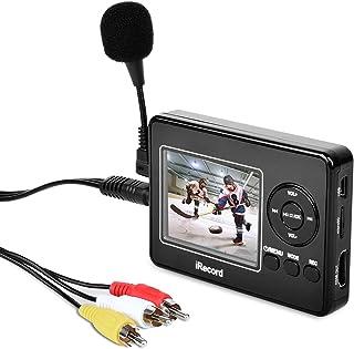 Convertidor de captura de vídeo Con Micrófono VHS a DVD Digital Grabber Grabador RCA a HDMI Capturadora Digitalizadora Jugador y Guardar en tarjeta SD