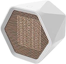 PDXGZ Portátil Calefactor Eléctrico, 600W/1000W Personal Ventilador Calefactor Eléctrico PTC Cerámica, Oscilación Automática Calefactor Aire Frio y Caliente para Hogar Oficina
